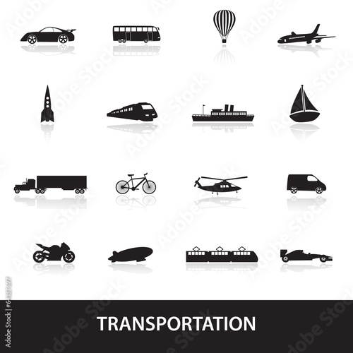 transportation icons eps10