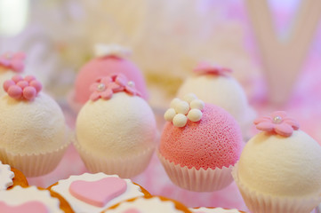 Delicious pink and white cupcakes