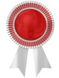 Blank award ribbon rosette.