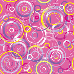 Seamless pattern with circles. Vector illustration.