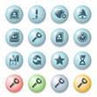 Icons for web on color buttons.