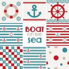 Motifs marins à répéter