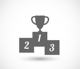 Podium icon with goblet vector