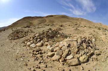 Bedouin cemetery in Negev.