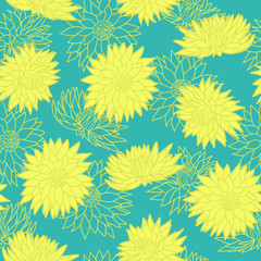 Floral seamless pattern. Vector illustration. Background