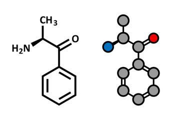 Cathinone khat stimulant molecule. Present in Catha edulis, khat
