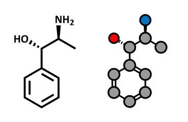 Cathine khat stimulant molecule. Present in Catha edulis (khat).
