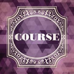 Course Concept. Purple Vintage design.