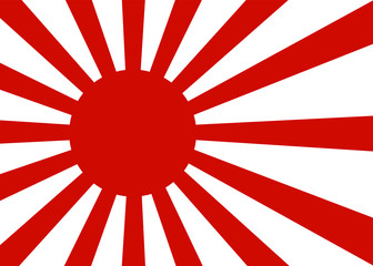 japanese oldtime flag, sunrays