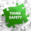 Think Safety on Green Puzzle. - 64196637