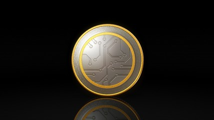 digital currency money coin dark background