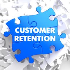 Customer Retention on Blue Puzzle.