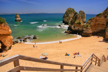 Ponta de Piedade beach in Lagos, Algarve region, Portugal