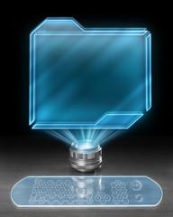 Futuristic holographic computer