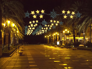 Christams on the Balcon de Europa in Nerja Andalucia Spain