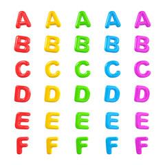 English Multi Coloured Alphabet