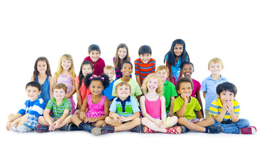 Multi-ethnic group of children