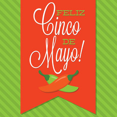 Retro style Cinco de Mayo (Happy 5th of May) card in vector form