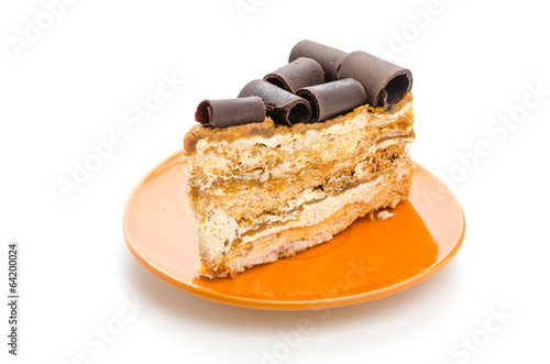 Coffee cake isolated on white background