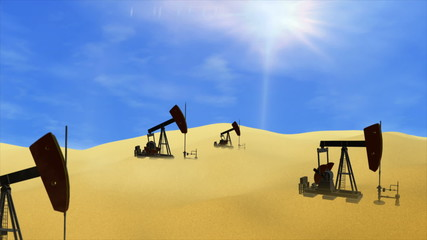 Oil Wells in the Desrt