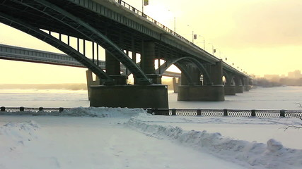 Bridge over the river Ob, Novosibirsk, Russia