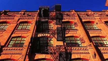 Red brick building with fire escape