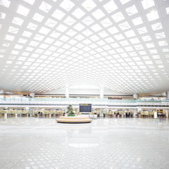 interior of the modern building