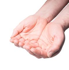 offene leere Männerhände