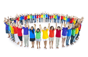 Colourful world united together