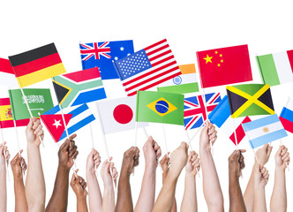 Hands Holding Mixed Country Flag