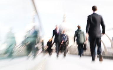 People Rushing in London