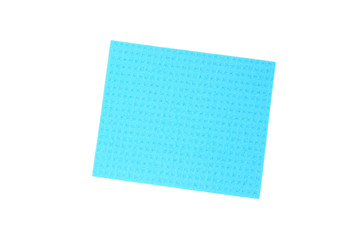 Blue cloth for cleaning tile.