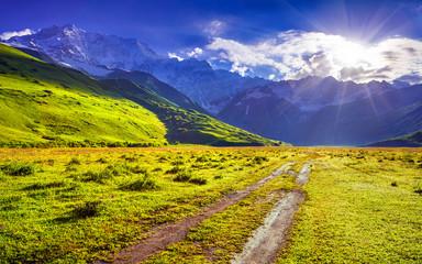 The main Caucasian ridge, Shkhara mountain.
