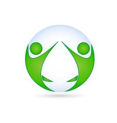 Teamwork logo identity card vector