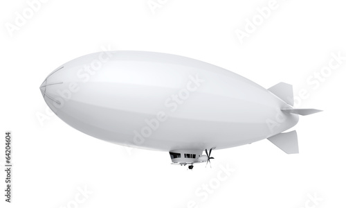 Leinwanddruck Bild Airship Isolated