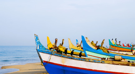 Colourful Fishing Boats, Kerala, India