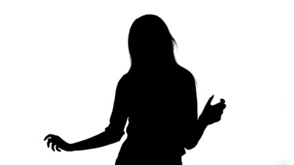 Silhouette of sexy girl. Matte, chroma