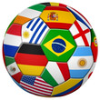 Leinwanddruck Bild - Bunter Fußball