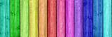 Fototapety Regenbogenfarben auf Holz