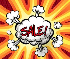 sale exploding bubble