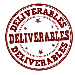 Deliverables stamp
