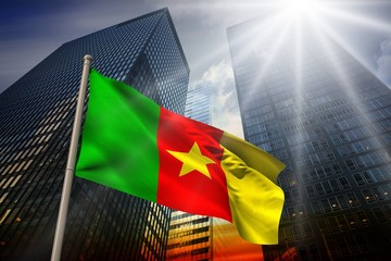Composite image of cameroon national flag