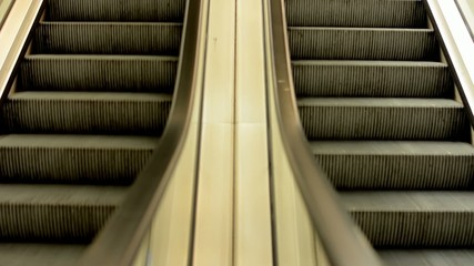 escalators in the train station
