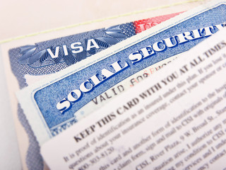 American Visa and Social Security Card