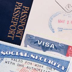 Passport, US Visa and Social Security Card