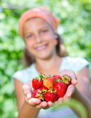 Girl with strawberry.