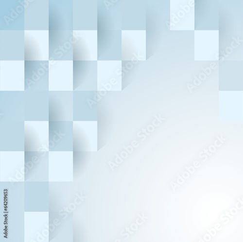 Blue geometric vector background.