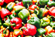 Red and green pepper background