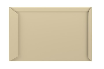 realistic 3d render of envelope