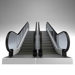 realistic 3d render of escalator